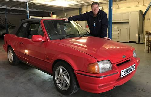 Mike Brewer With His 1989 Ford Escort
