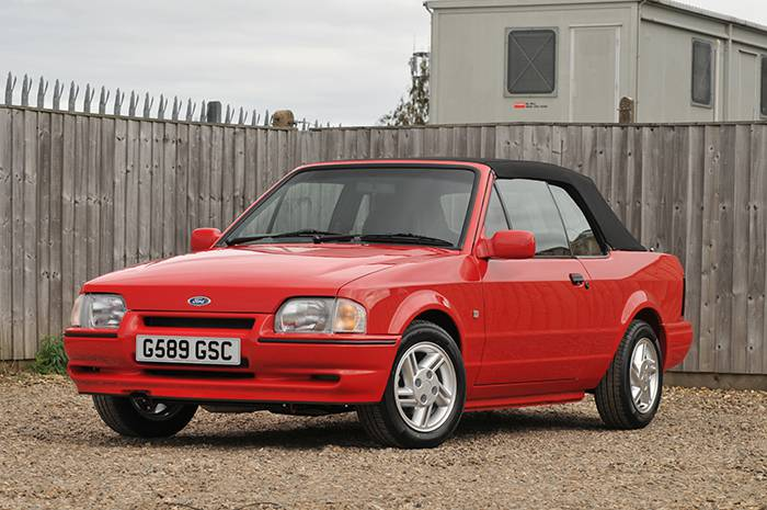 Mike Brewer's restored 1989 Ford Escort XR3i Cabriolet