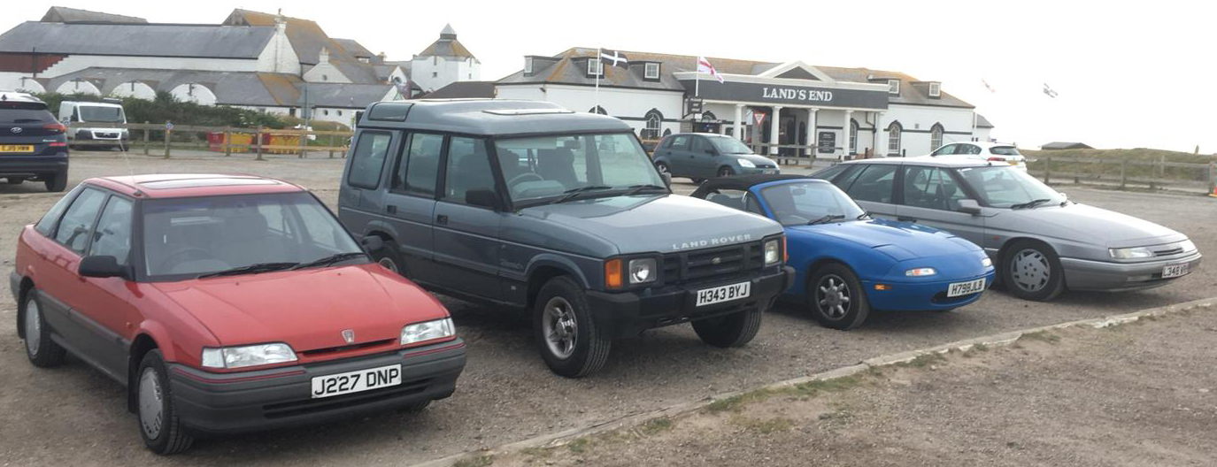 Four Cars At Lands End