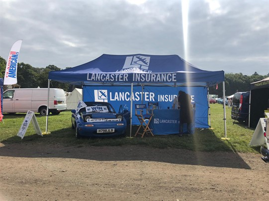Lancaster Insurance Stars and Stripes stand
