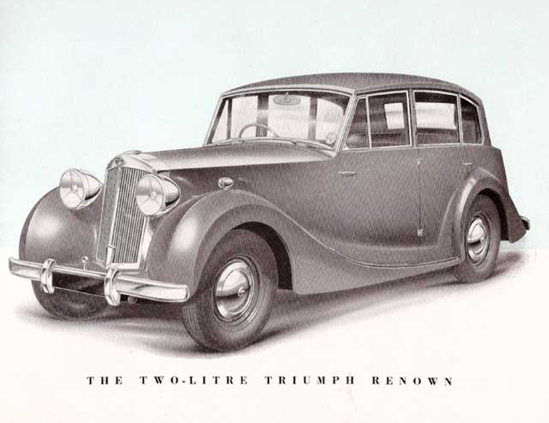 A sketch advert for the  Triumph Renown