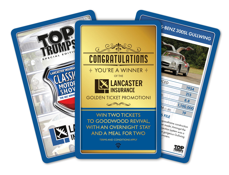 Five Lancaster Insurances Special Edition Top Trumps packs ...