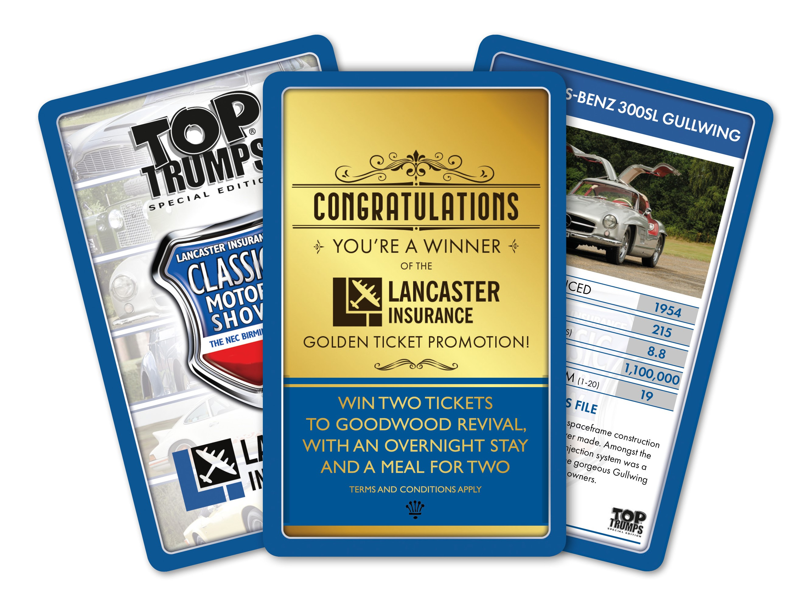Top Trumps With Gold Card Artwork
