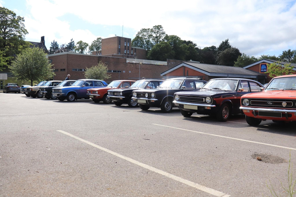 Group of classic cars