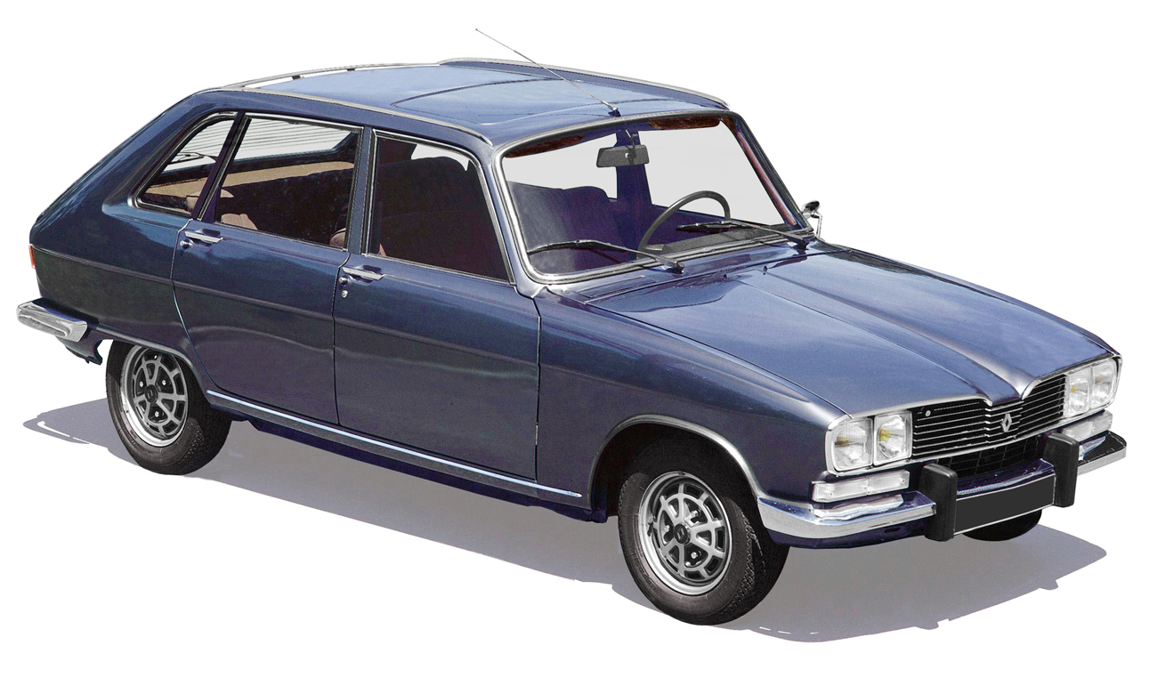 A sketch image of a Renault 16