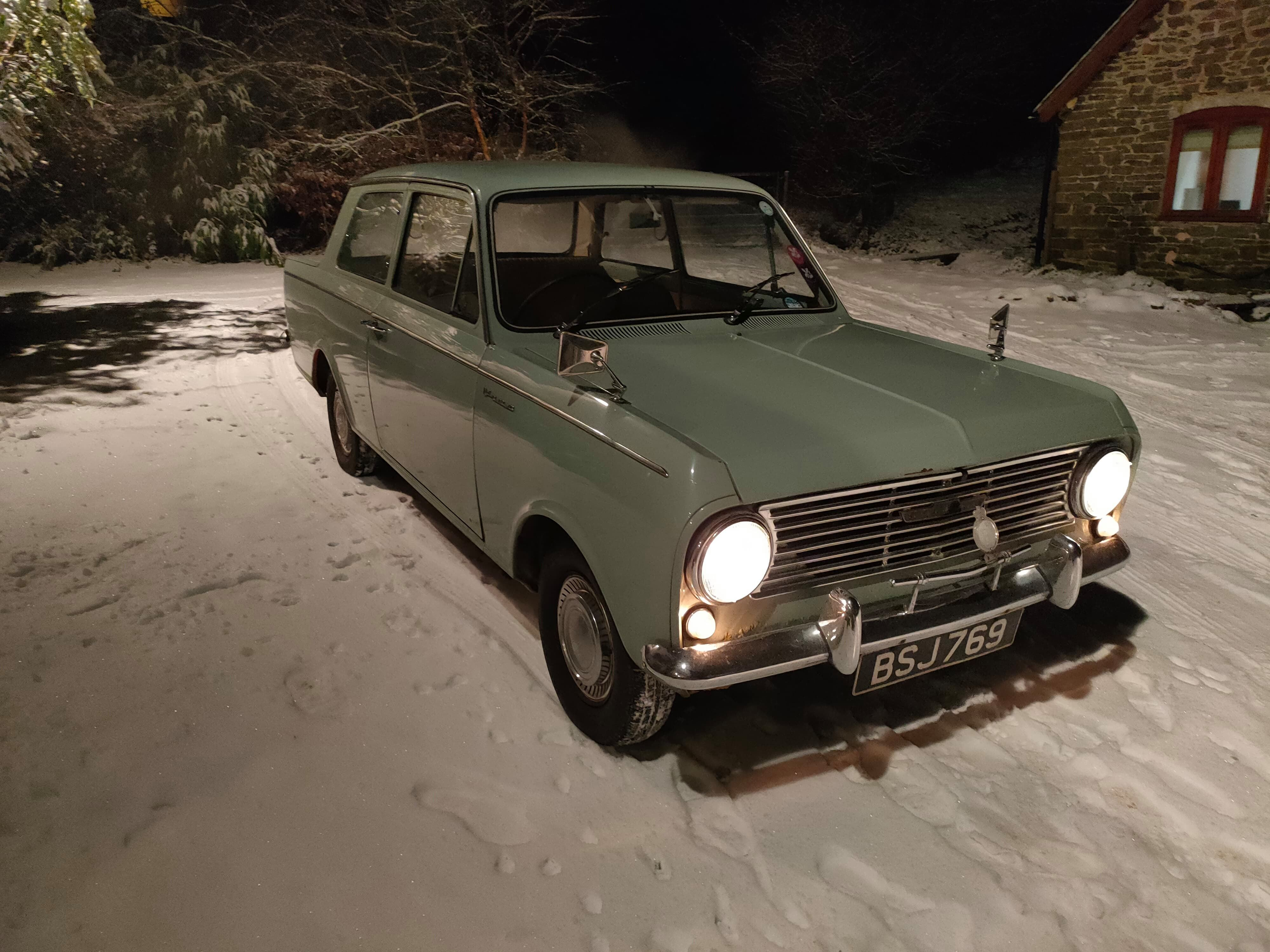 Vauxhall viva in the snow